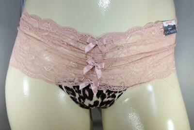Nwt-Lane Bryant Cacique Plus Animal Print Lace Wide Side Thong Panty 22 24**1219