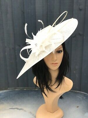NIGEL RAYMENT IVORY WEDDING ASCOT DISC HATINATOR Mother Of The Bride Hat