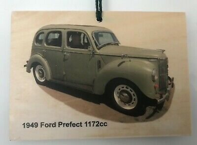 """1949 FORD PREFECT 10 A4 CANVAS PRINT POSTER 11.7""""x8.3"""""""