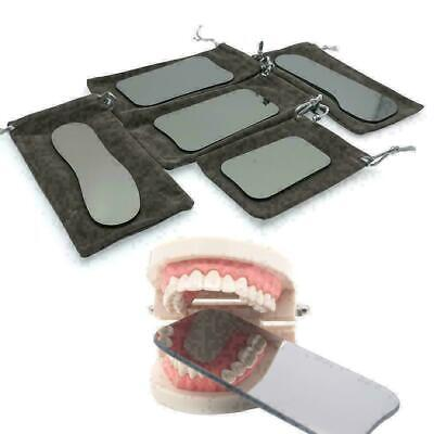 5* Dental Intraoral Orthodontic Photographic Glass Mirror 2-sided Rhodium R B6R5