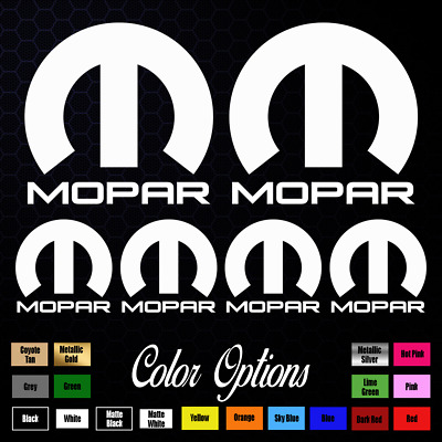"6x MOPAR Dodge Chrysler Emblems Stickers Decals 4"" and 2"" 130"