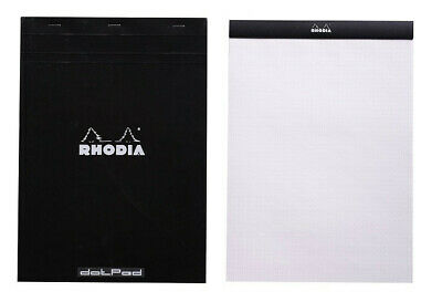 Rhodia No. 18 Notepad - Black, Dot Grid - 8x11, New