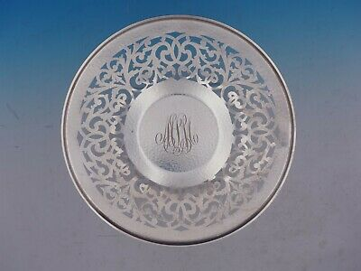 """Covington Hammered by Gorham Sterling Silver 1"""" x 10"""" Sandwich Plate (#4426)"""