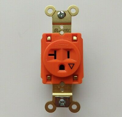 Hubbell Wiring Device-kellems IG Receptacle Single 20A 5-20R 125V Orange IG5361