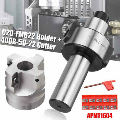 C20-FMB22 Tool Holder+400R-50-22 Face Cutter+Wrench+APMT1604 H2 Insert Blades