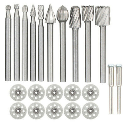 Carving Grinding Burr Bit+Spindle For Drill Tool Cutting Cutter Engraving Kit