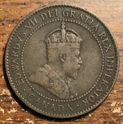 1905 Canada One Cent King Edward VII Coin