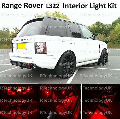 Red Premium Range Rover Vogue L322 2002-2012 Led Interior Kit Lights Xenon