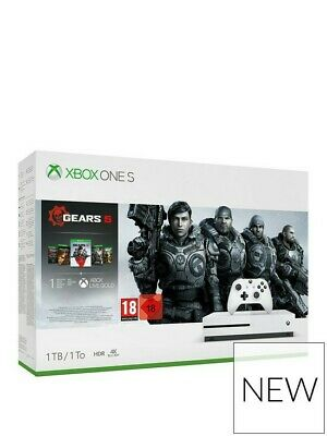 Microsoft Xbox One S 1TB Console White & Gears 5 Bundle