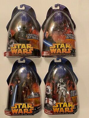 STAR WARS REVENGE OF THE SITH ACTION 4 FIGURES LOT (Brand New Mint) Varients