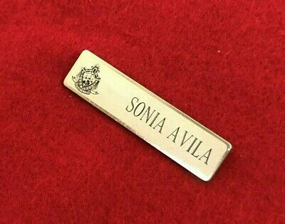 Vintage Beverly Hills Hotel Beverly Hills, Ca Official Name Tag Employee Tag