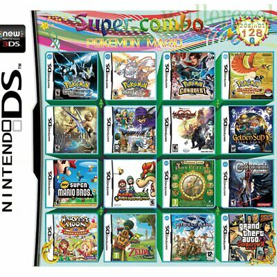 208 in 1 Games Cartridge Multicart For Nintendo DS NDS NDSL NDSi 2/3DS Christmas