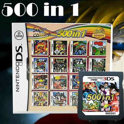 500 IN 1 Game Cartridge Multicart For Nintendo DS NDS NDSL NDSi 2/3DS Christmas