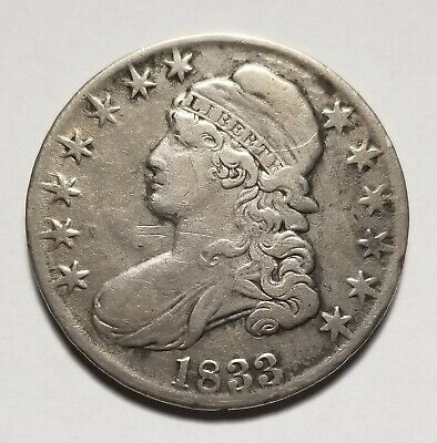 1833 50c United States Capped Bust Half Dollar