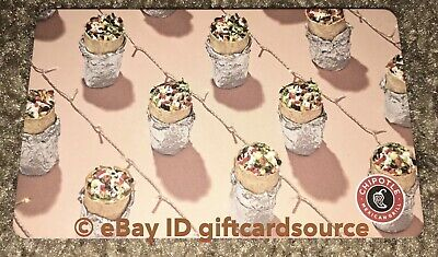 """Chipotle Gift Card """"Burrito On String Of Lights"""" Collectible New 2019"""