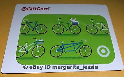 "Target Gift Card Summer ""Bicycles"" No Value New Bikes Collectible 2017"