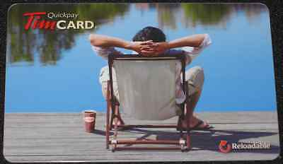 TIM HORTONS GIFT CARD Man By Lake CANADA 2011 COLLECTIBLE NO VALUE FD-22978