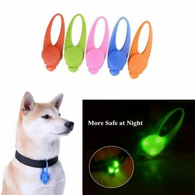 BRIGHT LED Dog Collar Pendant Tag Flashing Pet Puppy Luminous NIght LIGHT UP