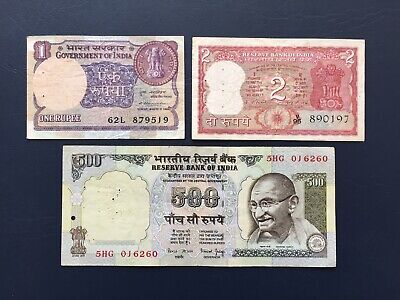 Various Denomination Indian Rupee Bank Notes Ideal For An Avid Note Collector