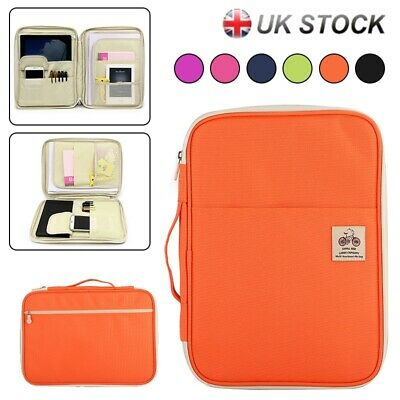 A4 Document Bag Travel Portfolio Waterproof Business Case Bag File Organiser