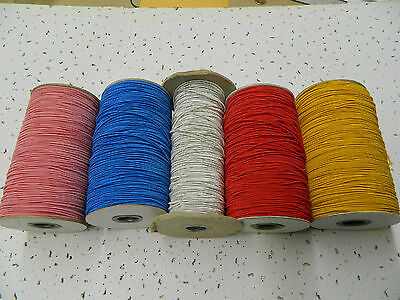 1.5 Mm Elastic Cord Black,White,Pink,Royal,Shiny Offwhite,Red,Gold 5,10,20 Yds