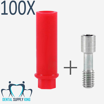 X 100 Anti Rotational Plastic Castable Abutment With Internal Hex Dental Implant