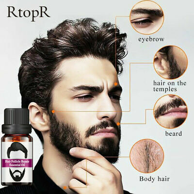 Beard Growth Essential Oil Fast Facial Serum Grow Mustache Eyebrow Hair Care DIY