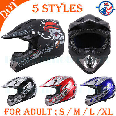 DOT Safety Helmet Full Face Motocross ATV UTV Dirt Bike Racing Off-Road S M L XL