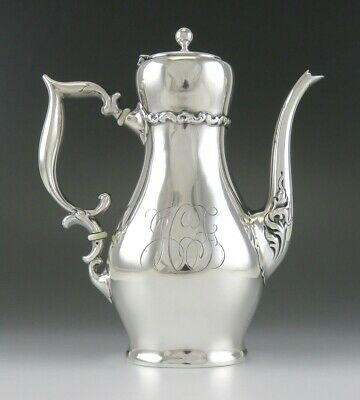 Antique c1890 Whiting Louis XIV Sterling Silver Demitasse Teapot or Coffeepot