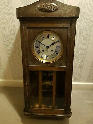 Antique Wall Clock with Key Fonteney & Fonteney