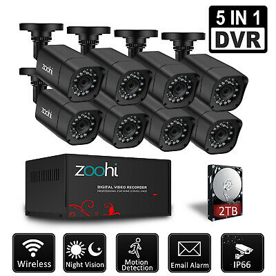 Security Camera System Outdoor 4CH/8CH 1080P DVR Home Security 5 IN 1 CCTV Video