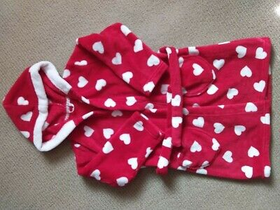 M&S red/white girls dressing gown age 4-5