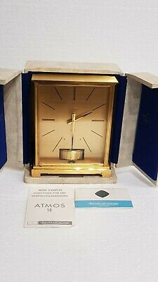 Jaeger Le Coultre Atmos VII Embassey Mantle Clock in Fitted Case