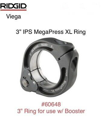 "60648 Ridgid 3"" IPS Viega MegaPress XL Ring Jaw Only For Booster Press Tool"