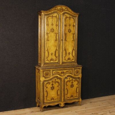 Trumeau Lacquered Cupboard Furniture Spanish Wooden & Golden Antique Style 900
