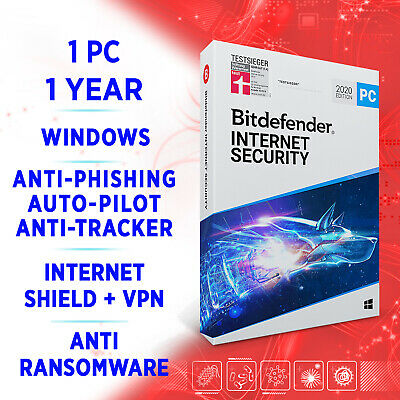 Bitdefender Internet Security 2020 1 PC 1 year, Activation Key FULL EDITION +VPN