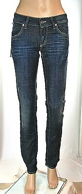 Jeans Donna Pantaloni MET Made in Italy Slim Fit Vita Bassa CA96 Blu Tg 26