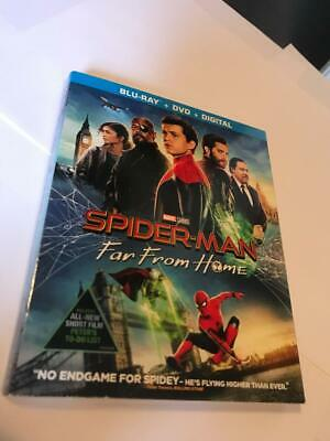 "SPIDER-MAN FAR FROM HOME BLU-RAY DVD W/SLIPCOVER ""no digital code"" free shipping"