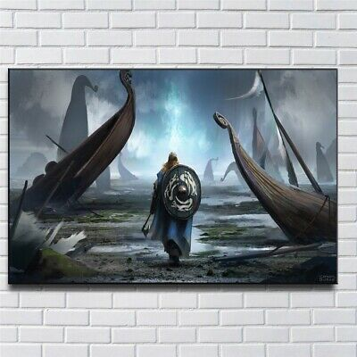 Viking Paintings HD Print on Canvas Home Decor Wall Art Picture 24x36inch