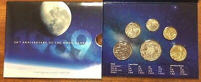 2019 RAM Uncirculated (UNC) 6 Coin Mint Set - 50th anniversary of Moon landing