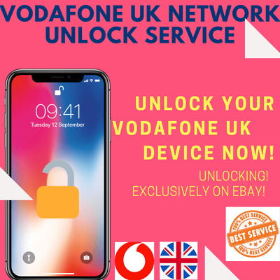 FAST UNLOCK SERVICE FOR iPhone 3GS 4 4S 5 5S SE 6 6+ 6S+ 7 7+ 8 X XS Vodafone UK
