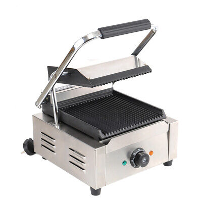 Commercial Panini Press Sandwich Maker Toaster Electric Toastie Grill 1800W Plug