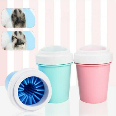 Portable Cup Dog Foot Cleaner Feet Washer Brushes Dog Cat Paw Pet Cleaning Brush