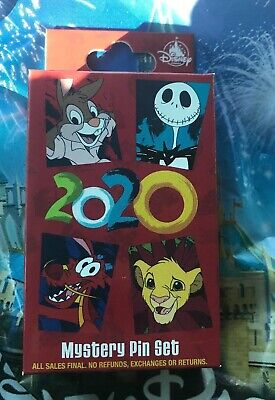 Disney Parks ONE UNOPENED Happy New Year 2020 Random Pin Box With Two Pins New