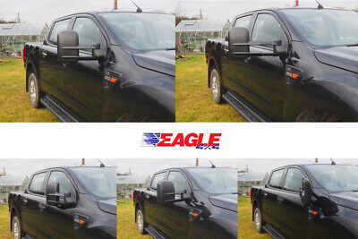Extendable Towing Mirrors for Toyota Hilux 2016+ PAIR BLACK with Indicators