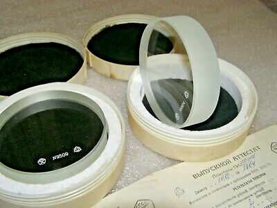 """Optical Glass Flat Parallel Micrometer calibration 120 mm 0,00012 mm NOS 4,72/"""""""