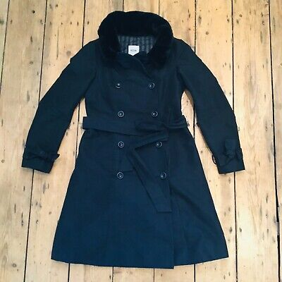 Womens Moschino Cheap & Chic Long Double Breasted Trench Coat Size 10 42 38 8