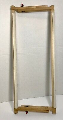 "Wooden Needlework Scroll Frame Stretcher for Embroidery Cross Stitch 11""X 19'"