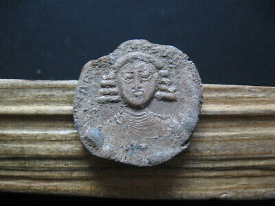 ANASTASIUS II BYZANTINE MEDIEVAL LEAD SEAL BULA 713-715 A.D. 24 mm. UNPUBLISHED