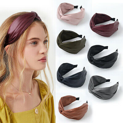 PU Leather Girls Hairbands Knotted Bow Headbands Fashion Women Hair Accessories